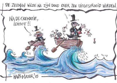 cartoon hans mader crematie zeeman