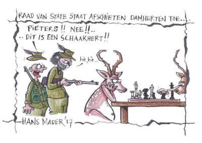 cartoon hans mader damherten afschieten