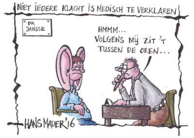 Cartoon door Hans Mader 'Medisch verklaren'