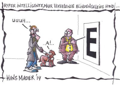 Cartoon voor ANVC door Hans Mader