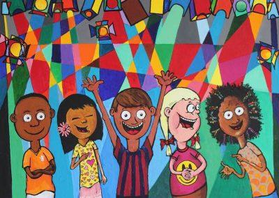 Opdracht: Schilderij voor Unicef