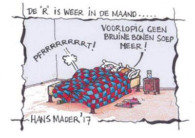Cartoon door Hans Mader